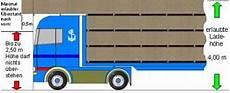 bis zu welcher höhe darf die ladung nicht nach vorn über das fahrzeug hinausragen ladungssicherungshandbuch