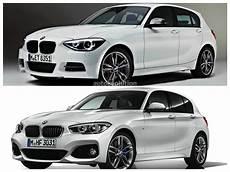photo comparison bmw f20 1 series facelift versus bmw f20