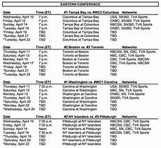 stanley cup finals schedule 2019 the 2019 stanley cup playoffs begin on wednesday schedule daily hive toronto