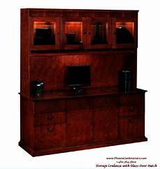 credenza office furniture 2 set credenza and glass door hutch office furniture