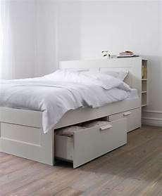ikea brimnes bed with storage headboard and