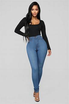 classic high waist medium blue