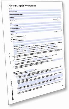 muster mietvertrag f 252 r wohnungen downloaden zweckform