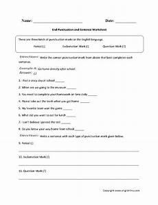 writing sentences punctuation worksheets 22216 end punctuation and sentence worksheet punctuation worksheets worksheets le words