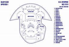 Deck One Schematic Of U S S Enterprise Ncc 1701 D