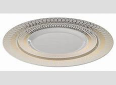 Exquisite 40 Pack Gold Ovals Design Plastic Plates (20
