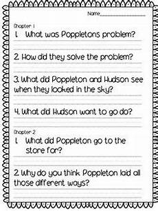 poppleton in winter free worksheets 20163 poppleton everyday comprehension questions reading la comprehension questions