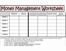 money management worksheets for adults 2245 tammy crayk unit website us tc money management