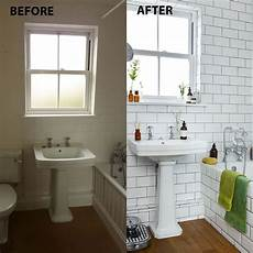 before and after from bland bathroom to chic retreat