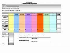 girl scout cookie booth tally form by wrenny s tpt