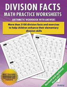 division facts math practice worksheet arithmetic workbook with answers daily practice guide