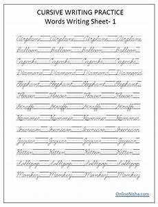 handwriting worksheets words 21626 cursive handwriting worksheets free printable with images cursive writing practice sheets
