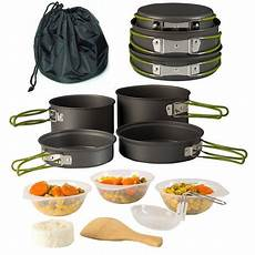 cing cookware pot pan mess kit backpacking outdoor cooking bowl made of lightweight