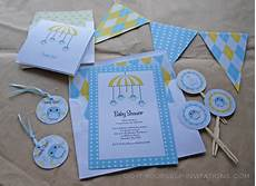 printable baby shower invitation templates baby birdy mobile