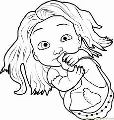 baby rapunzel coloring page free tangled coloring pages