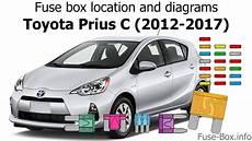 Fuse Box Location And Diagrams Toyota Prius C 2012 2017