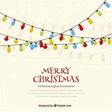 merry christmas lights background vector free download