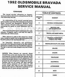 free car repair manuals 1992 oldsmobile bravada electronic 1992 oldsmobile bravada repair shop manual original