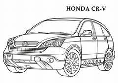 Honda CR V CARS Coloring Pages  Kids Free