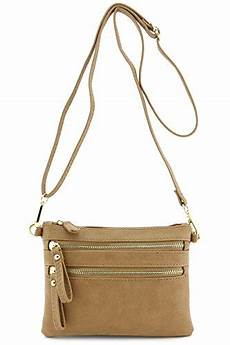 Multi Pocket Small Crossbody Bag multi zipper pocket small wristlet crossbody bag