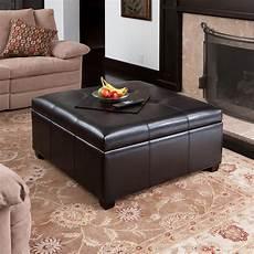 pouf coffee table spacious espresso storage ottoman coffee table w