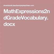 algebra worksheets 8420 mathexpressions2ndgradevocabulary docx math