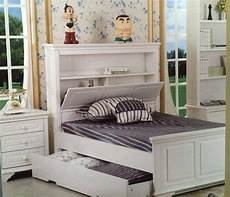 King Single Bed With Storage White Trundle