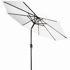 trademark innovations deluxe solar powered led lighted patio umbrella 9 white walmart com