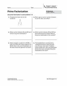 prime factorization worksheet worksheet for 4th 6th grade lesson planet