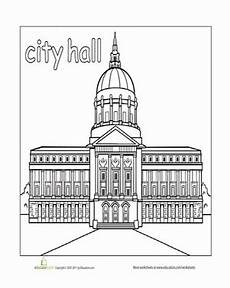 coloring pages places in town 18038 paint the town city worksheet education