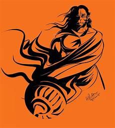 Hanuman Black And Orange Hd Wallpaper