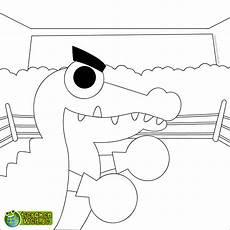malvorlage krokodil boxen
