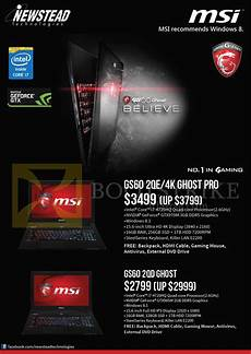 msi newstead notebooks gs60 2qe 4k ghost pro gs60 2qd ghost it show 2015 price list brochure
