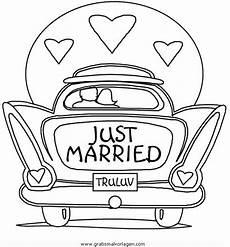 Malvorlagen Hochzeit Auto Hochzeitsauto Ausmalbilder Hochzeit
