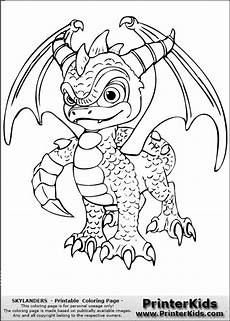 skylanders spyro coloring page with images