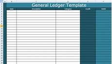 general ledger template excel xls free excel