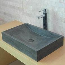 vasque de lavabo vasque 224 poser en len calcaire gris fonc 233 lave