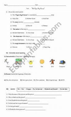 paper bag princess worksheets 15703 the paperbag princess story test esl worksheet by mvid