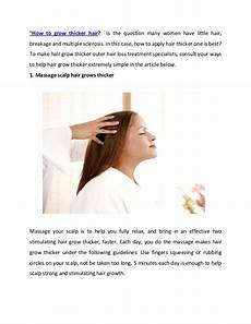 the remedies make hair thicker and stronger naturally