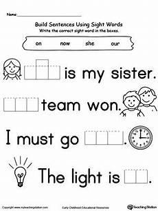 building sight words worksheets 21020 preschool and kindergarten worksheets worksheets for kindergarten kindergarten
