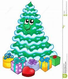 Malvorlage Weihnachtsbaum Mit Geschenken Snowy Weihnachtsbaum Mit Geschenken Stockbild Bild 7182291