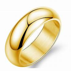 gold color ring men women gift wholesale 7mm wide classic gold wedding bands rings for men