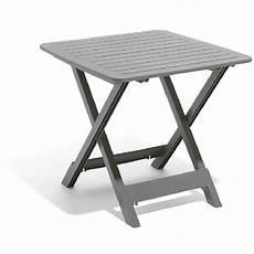 gifi table de jardin table de jardin 2 personnes pliante plastique gris table
