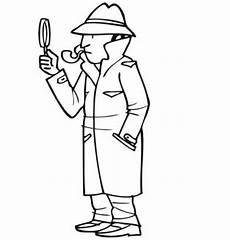 ausmalbild berufe detektiv kostenlos ausdrucken