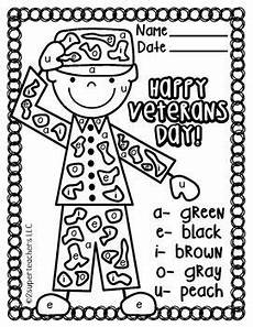 s day worksheets elementary 20348 veterans day free color code fall kindergarten veteran s day
