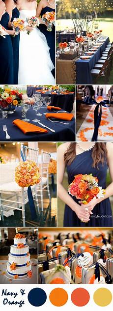 Orange And Blue Wedding Ideas