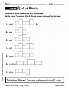 spelling worksheets the consonant 22353 spelling unit consonant blends and digraphs worksheet for 1st 2nd grade lesson planet
