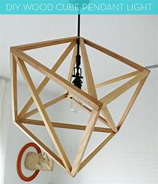 How To Build A Cube Pendant Light how to make a diy wood cube pendant light 187 curbly diy