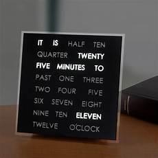 clock with words interior design ideas