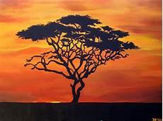 afrikanischer baum silhouette trees silhouettes